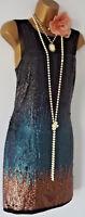 Vintage 1920's Style Gatsby Flapper Charleston Downton Deco sequin dress 10