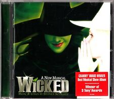 A New Musical WICKED - Stephen Schwartz Soundtrack/Score CD 2003 Wizard Of Oz
