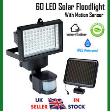 60 LED Solar Floodlight Motion Sensor Security Light Outdoor Spot Light