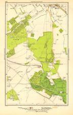 KENT. Bromley, Hayes, Beckenham, West Wickham, Shortlands, Keston 1923 old map