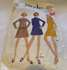 Vintage Original 60's  Ladies Dresses Style Sewing Pattern Size 12 Cut
