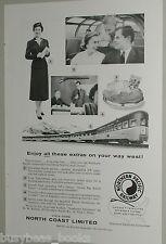 1957 Northern Pacific Railway advertisement, Stewardess-Nurse, on-board features