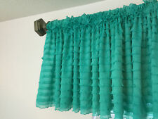 Mint Ruffle Valance Sheer Extra Wide Window Treatment - Home, Nursery, Kitchen