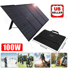 HOT!100W Foldable Camping Solar Panel Kit Charger Portable USB Station Generator