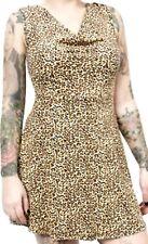 130002 Leopard Print Cut Out Skull Dress Cutout Goth Punk Rock Sourpuss Large L