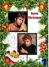 FREE P/P - GEORGE MICHAEL Christmas cards (selection) Personalised - A5