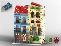 Modular Gourmet-Restaurant und Pizzeria - PDF Bauanleitung - kompatibel mit LEGO
