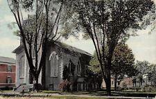 Ogdensburg New York~Gray Baptist Church w/Long Arc Windows Postcard 1914