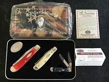 Set of 3 Case XX All American Trapper Collection Pocket Knife 6254 6207 62154 SS
