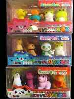 1x PACK 4 NOVELTY 3D NOVELTY PUZZLE ANIMAL JAPANESE STYLE RUBBERS ERASERS UKSELL