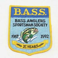 B.A.S.S. Bass Anglers Sportsman Society Patch 25th Anniversary 1992