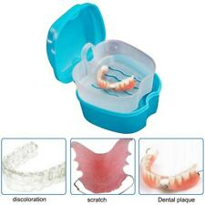 Denture Box Container Dental Tooth Storage Bath Case False Teeth Rinsing Basket
