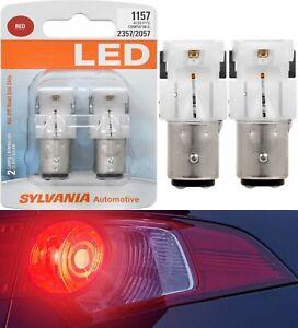 Sylvania Premium LED Light 1157 Red Two Bulbs Stop Brake Replace Stock Lamp OE