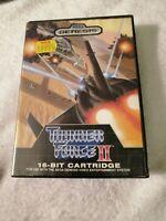 COMPLETE IN BOX Thunder Force II 2 SEGA Genesis 1989 Shooter CIB Case Manual