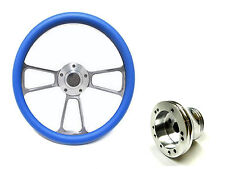 "Artic Cat Prowler 14"" Billet Sky Blue Steering Wheel Includes Horn & Adapter"