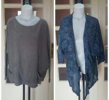 RISSKIO maglia poncho donna + OMAGGIO maglia tasche tg M (misure descrizione)