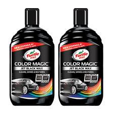 2 x Turtle Wax Colour Magic Car Cleaner Restorer Polish 500ml - Black