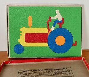 Vintage Lauri Crepe Foam Puzzle Tractor LR-2134 16-Piece Complete