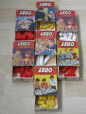 7 original alte LEGO SYSTEM classic Schachteln mit Inhalt aus den 50er Jahren
