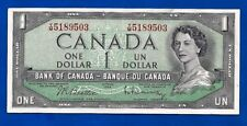 1954 CANADA Canadian ONE 1 DOLLAR BILL prefix BFF NOTE CRISP high AU-UNC