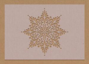 Snowflake Flower Mandala Stencil A6 A5 A4 A3 crafting DIY