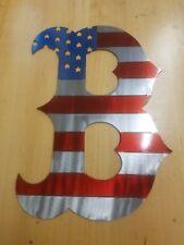 Boston Red Sox Metal Wall Art Plasma Cut Home Decor Gift Idea American Flag