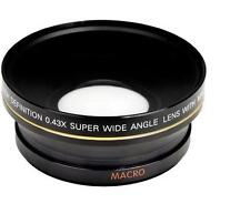 Bower 72mm 0.43x Digital Wide Angle Conversion Lens For Photo and Video Camera