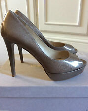 Jimmy Choo Patent Leather Upper Peep Toes Shoes for Women