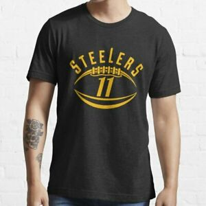 Pittsburgh Steelers t shirt Funny Birthday Black Cotton Tee Vintage Gift For Men