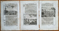 Olearius Lot of 3 Original Prints on Russia (C) - 1656