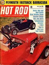 HOT ROD JULY 1964,T-BIRD,PLYMOUTH FASTBACK BARRACUDA,CHRYSLER,HOTROD MAGAZINE