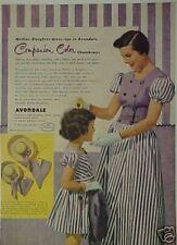 1950 Avondale Girls & Womens Chambray Purple Dresses AD