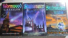 Lot of 3 G. P. Taylor Shadowmancer  Shadowmancer Return  Wormwood  HCDJ