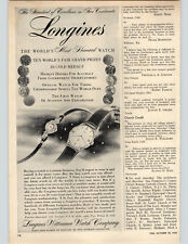 1955 Paper Ad Most Honored Watches Longines World's Fair Aviation Exploration