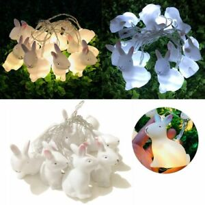 1.5M Easter Rabbit Lights String Bunny Festive LED Lamp Battery Garden Decor