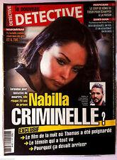 DETECTIVE du 12/11/2014; NAbilla criminelle ?, le film de la nuit Thomas Poignar