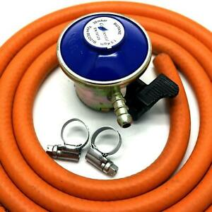 BUTANE GAS REGULATOR With 1m HOSE & 2 CLIPS Fits Calor Gas /Flogas 21mm Cylinde