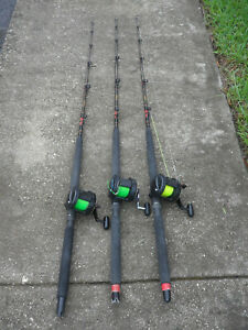 3 Shimano TLD 20 Fishing Reel Combos with Kunnan Rods