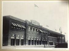 "20"" x 27"" B/W PHOTO: FENWAY PARK BASEBALL GROUNDS EXTERIOR, SEPT 28, 1914; GIFT!"