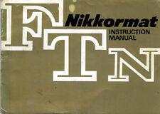 183407 NIKKORMAT FTN GENUINE INSTRUCTION MANUAL