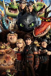 How to Train Your Dragon 2 Characters Giant Poster - A0 A1 A2 A3 A4 Sizes