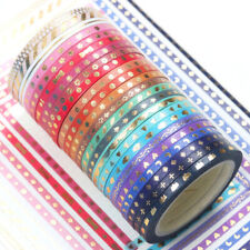 Bulk10Pcs//1.5cmX3 Meter Papier klebrige Aufkleber dekorativen Washi Tape NE