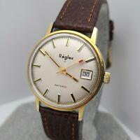 Vintage Reglex Men's manual winding watch cal.FE 140-1 17Jewels date 1970s