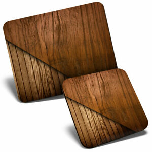 Mouse Mat & Coaster Set - Imitation Wood Effect Oak  #3907