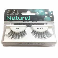Ardell Naturals Eyelashes False Faux Lash Cosmetics Salon Look Black 118