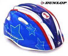 DUNLOP Kinder Fahrradhelm Schutzhelm Jugendliche Helm Stars & Stripes Radhelm