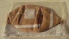 "African Nigerian Traditional Aso Oke Fila -Brown Men's Cap - ""Sanya""  - 24 inch"