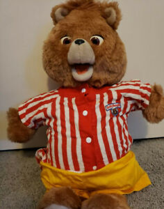 Teddy Ruxpin Bear Vintage 1985 Working Mouth and Eyes