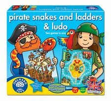 Orchard Toys Educational Games - Pirate Snakes, Ladders & Ludo - Brand New