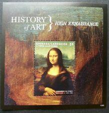 Grenada Mona Lisa 2013 Da Vinci Ancient Painting Art Smile (miniature sheet) MNH